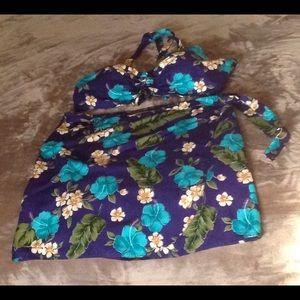 Other - 2-Piece Hawaiian Halter Top and Wrap Skirt